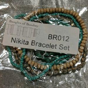 Jewelry - Boho style stretch bracelet set NIP